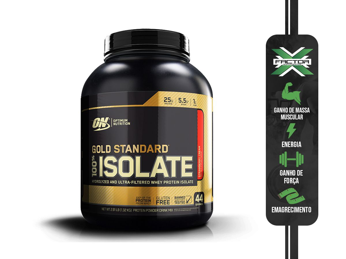100% WHEY GOLD ISOLATE (2.91LBS/1320G) OPTIMUM NUTRITION