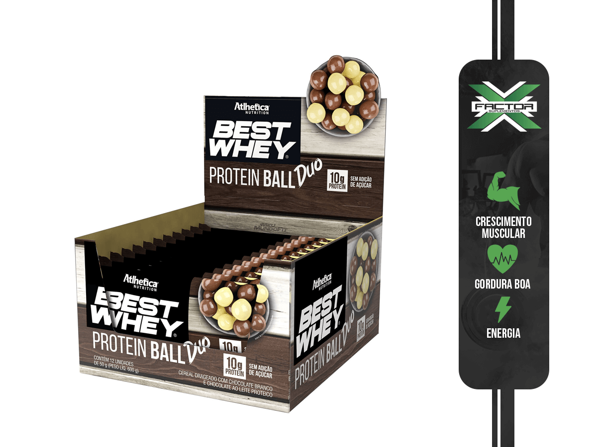 BEST WHEY PROTEIN BALL (CAIXA-600G) ATLHETICA NUTRITION