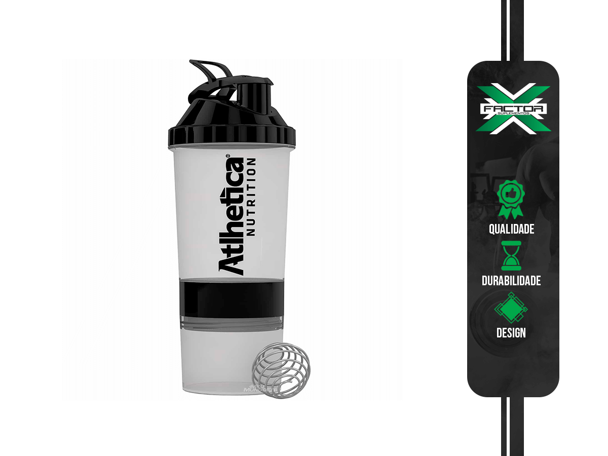 COQUETELEIRA BLENDER W/BALL 3-IN-1 BEST WHEY 600ML ATLHETICA