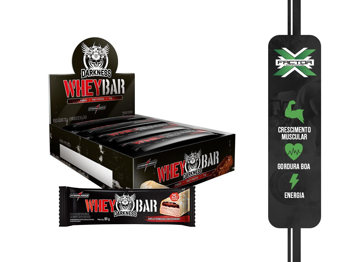 DARKNESS WHEY BAR (8UNID-90G) INTEGRAMEDICA