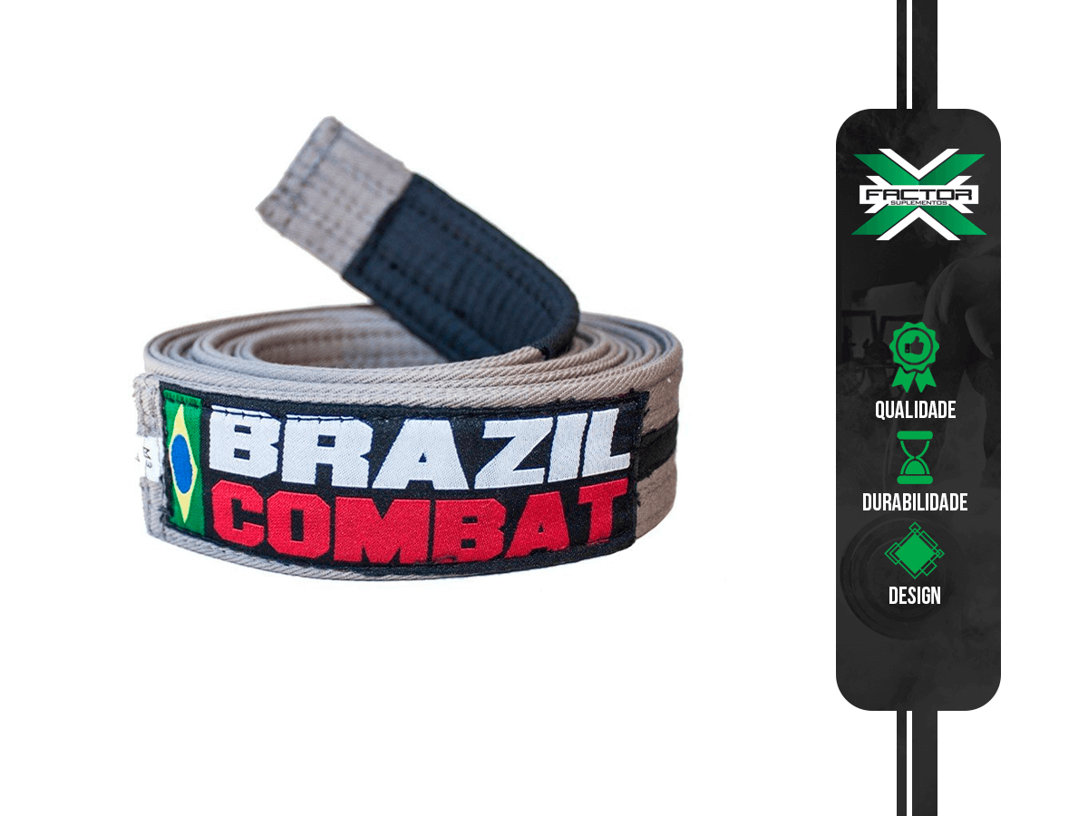 FAIXA CINZA BRAZIL COMBAT
