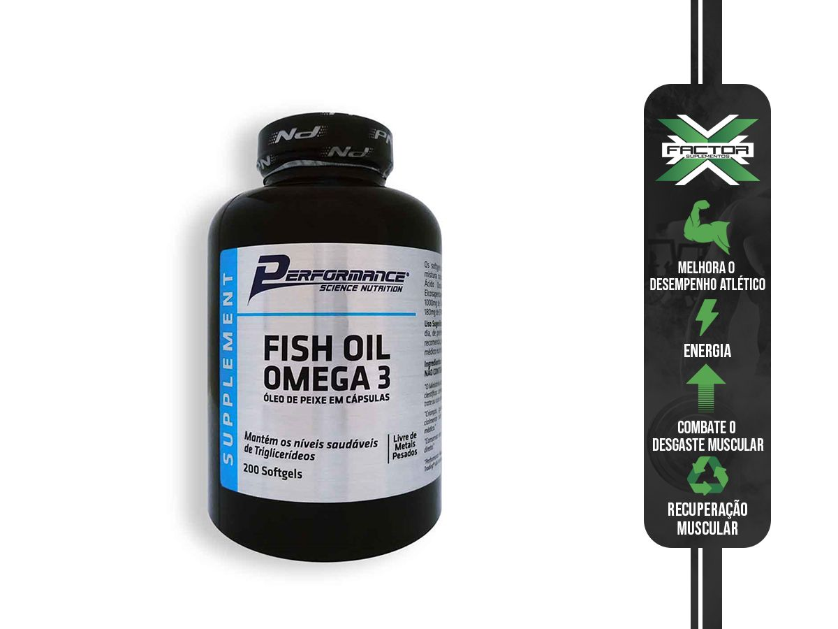 Fish Oil Omega 3 -100 Softgels Performance Nutrition