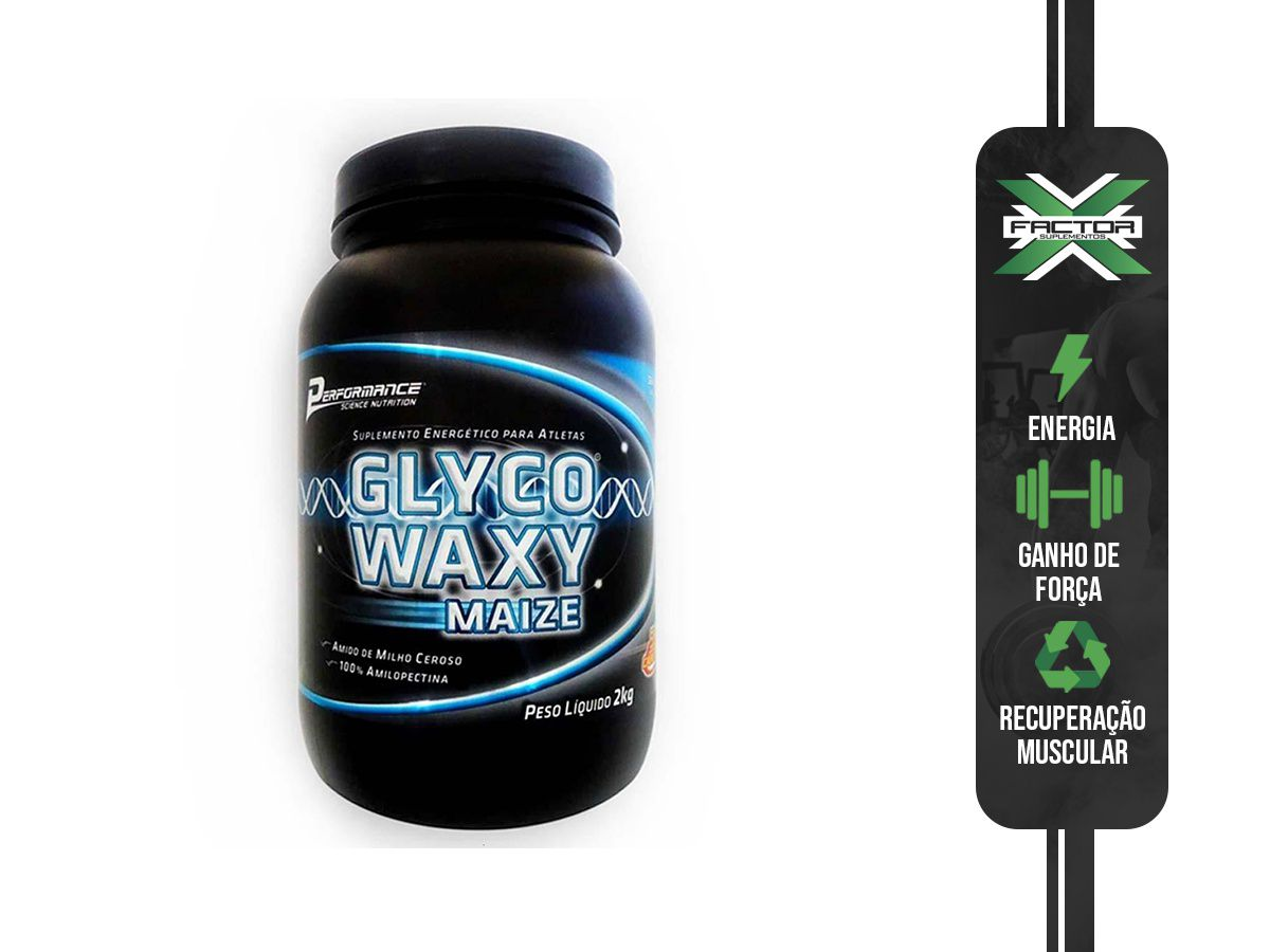 GLYCO WAXY MAIZE 2000G - SEM SABOR -PERFORMANCE NUTRITION