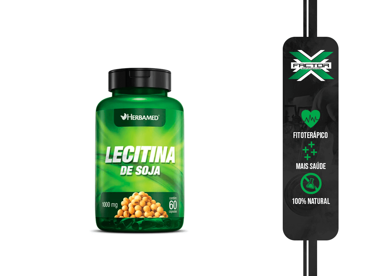LECITINA DE SOJA 60CAPS 1000MG HERBAMED