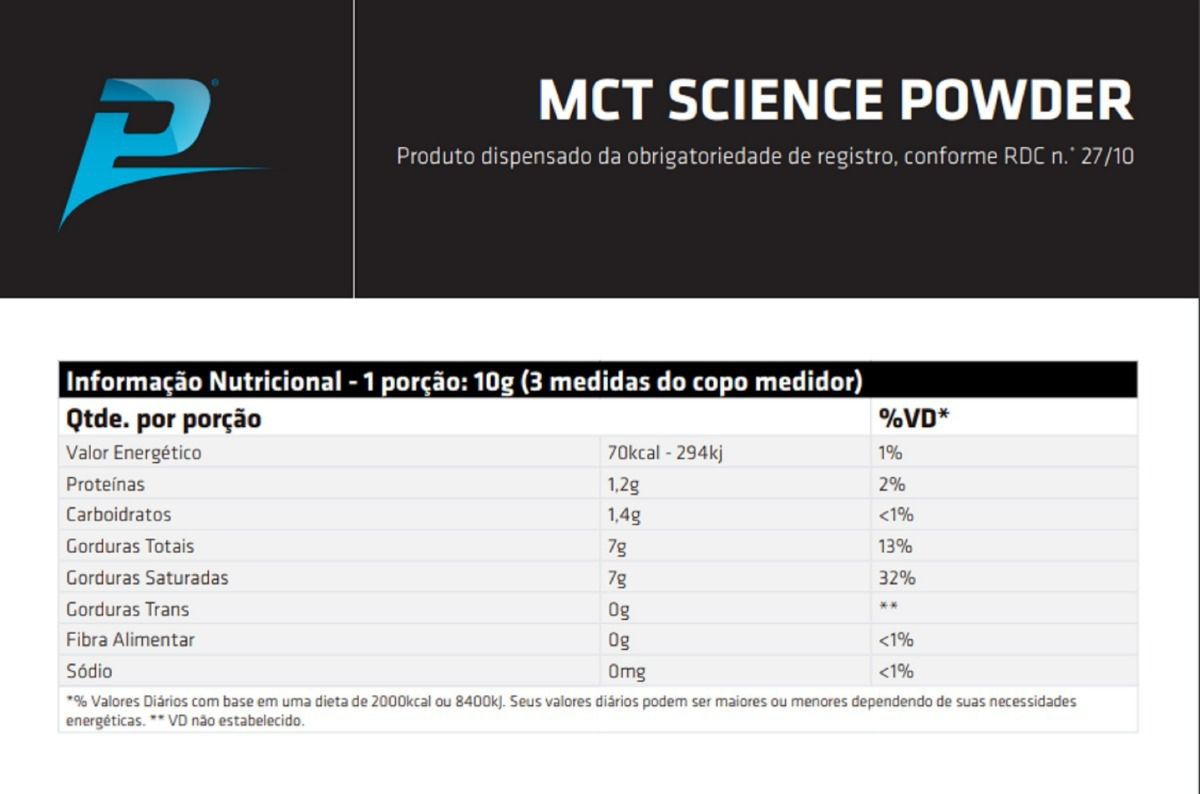 MCT SCIENCE POWDER 300gG PERFORMANCE NUTRITION