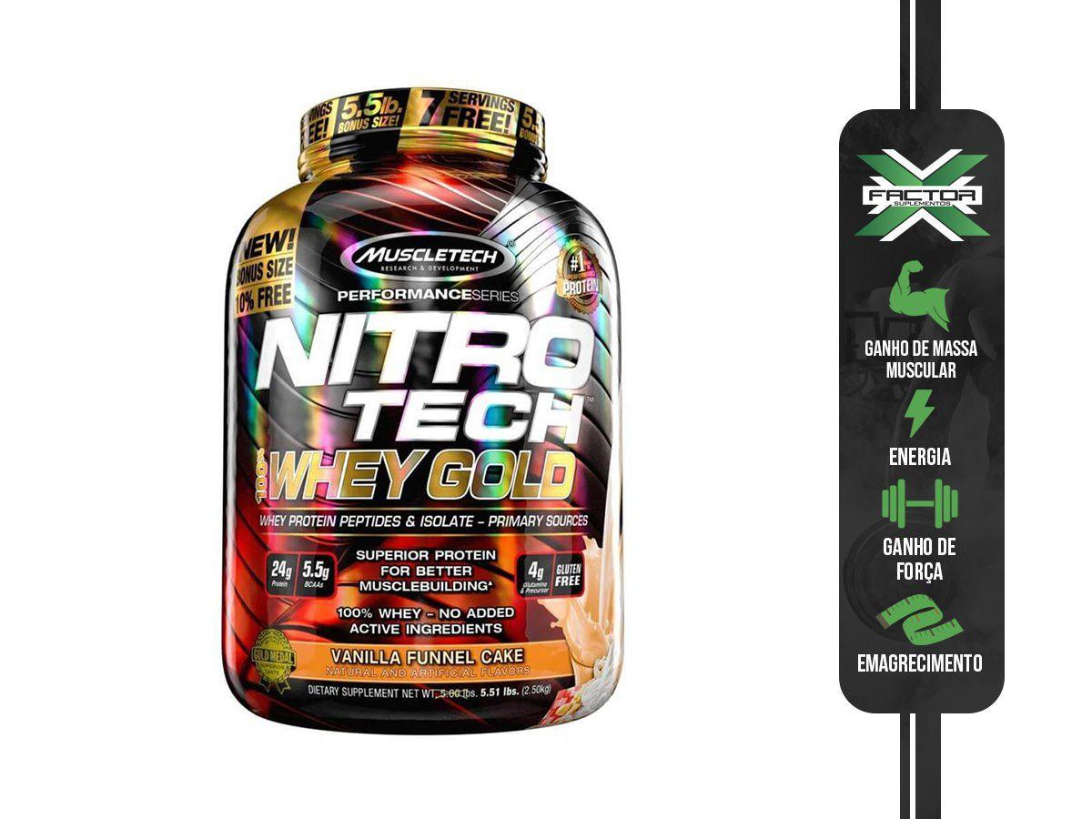 NITRO TECH 100% WHEY GOLD (2500G) MUSCLETECH