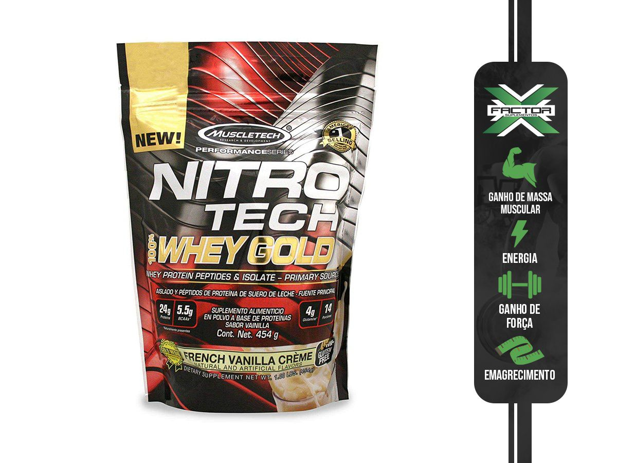 NITRO TECH 100% WHEY GOLD (454G) MUSCLETECH