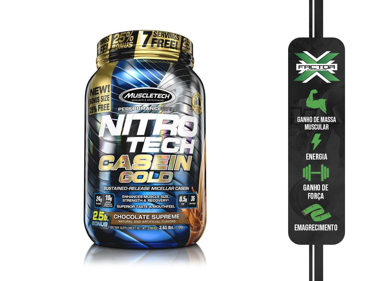 NITRO TECH CASEIN GOLD (1133G) MUSCLETECH