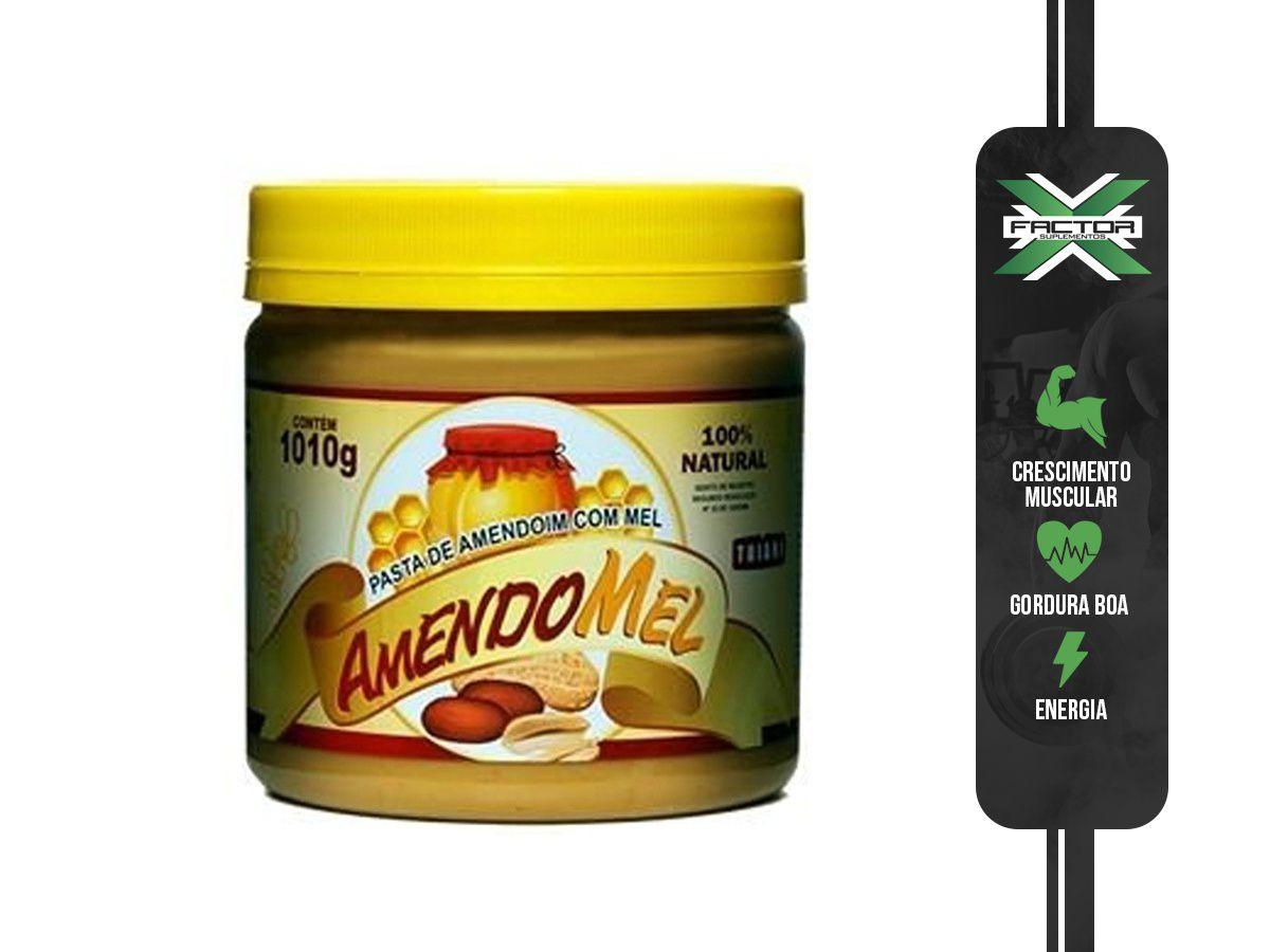 PASTA DE AMENDOIM AMENDOMEL C/ MEL (1KG) - THIANI