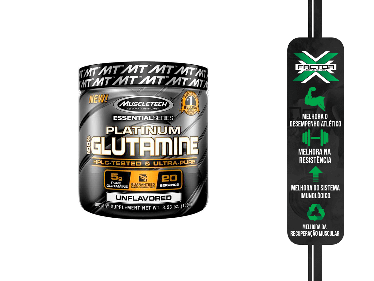 PLATINUM 100% GLUTAMINA (100G) MUSCLE TECH