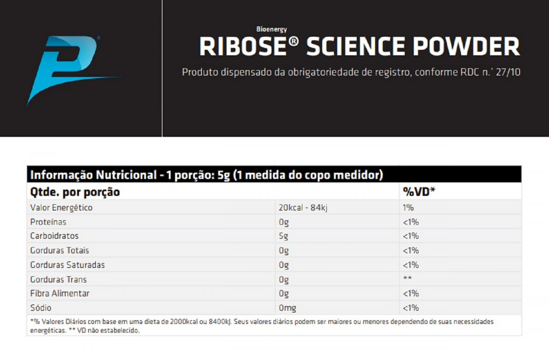 RIBOSE 300G - PERFORMANCE NUTRITION