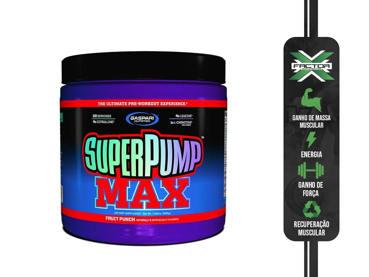 SUPER PUMP MAX (480G) GASPARI NUTRITION