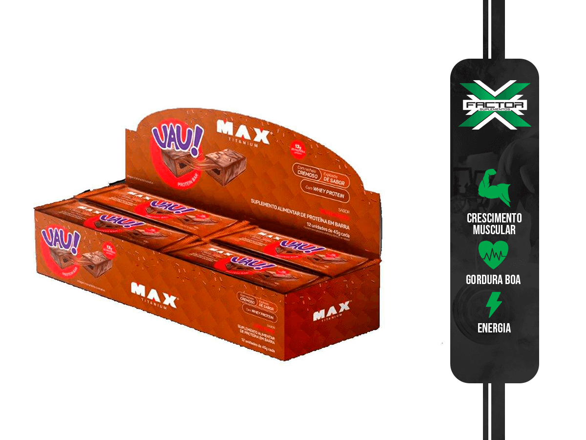 UAU PROTEIN BAR (DISPLAY - 12UN/45G) MAX TITANIUM