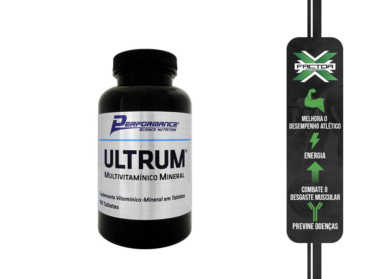 ULTRUM MULTIVITAMÍNICO - 100 TABS - PERFORMANCE NUTRITION