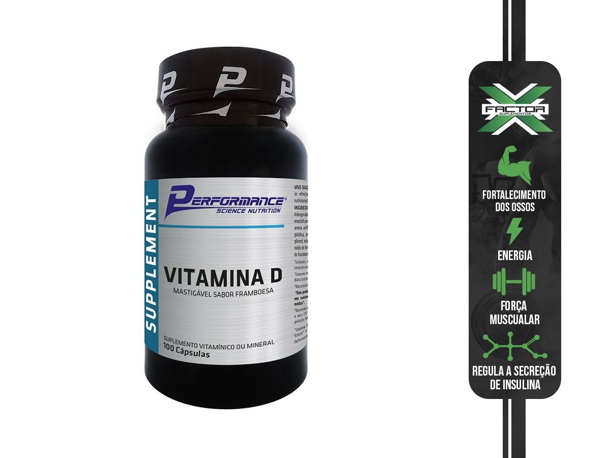 VITAMINA D (100 CAPSULAS) PERFORMANCE NUTRITION