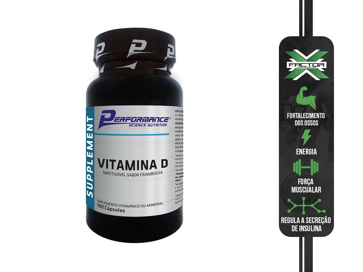 VITAMINA D (100 CAPSULAS) PERFORMANCE NUTRITION