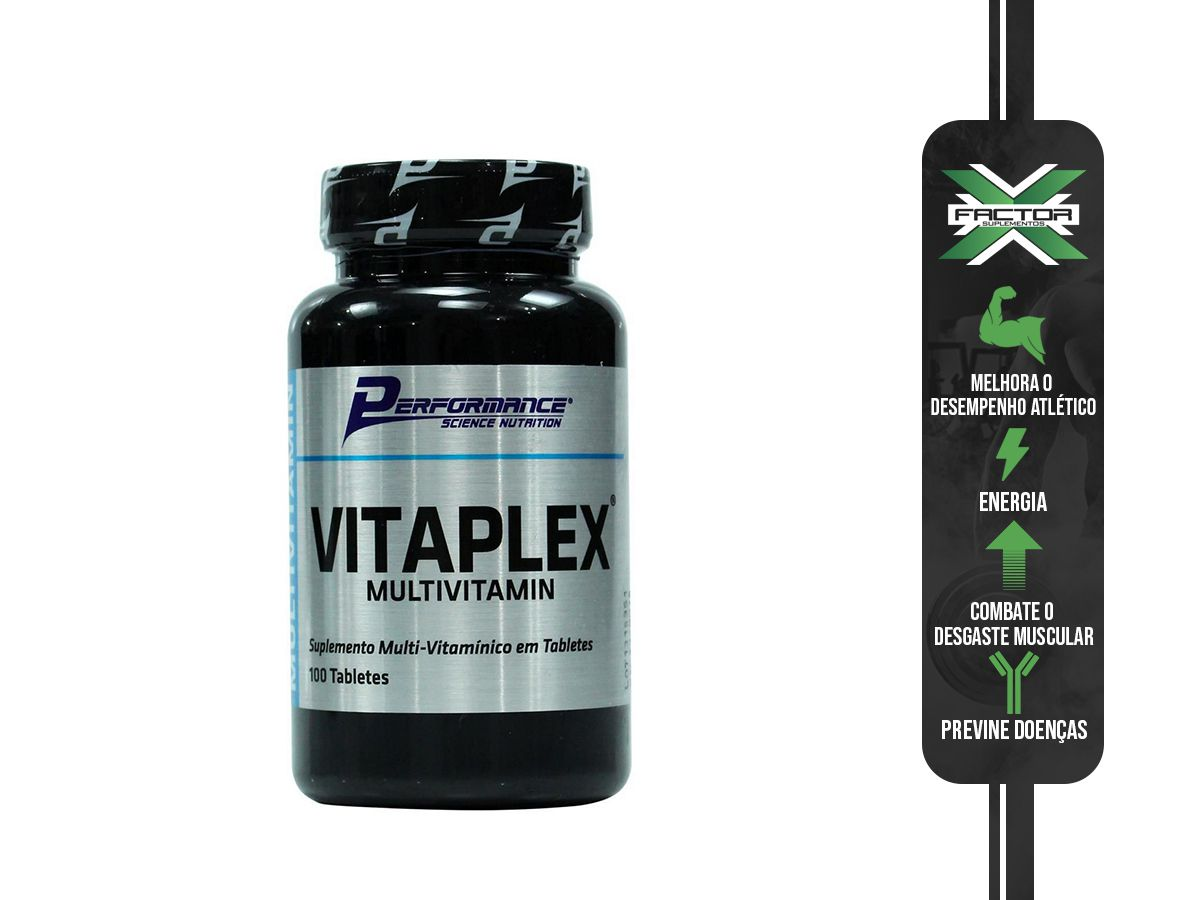 Vitaplex Multivitamin - 100 Tabletes - Performance Nutrition