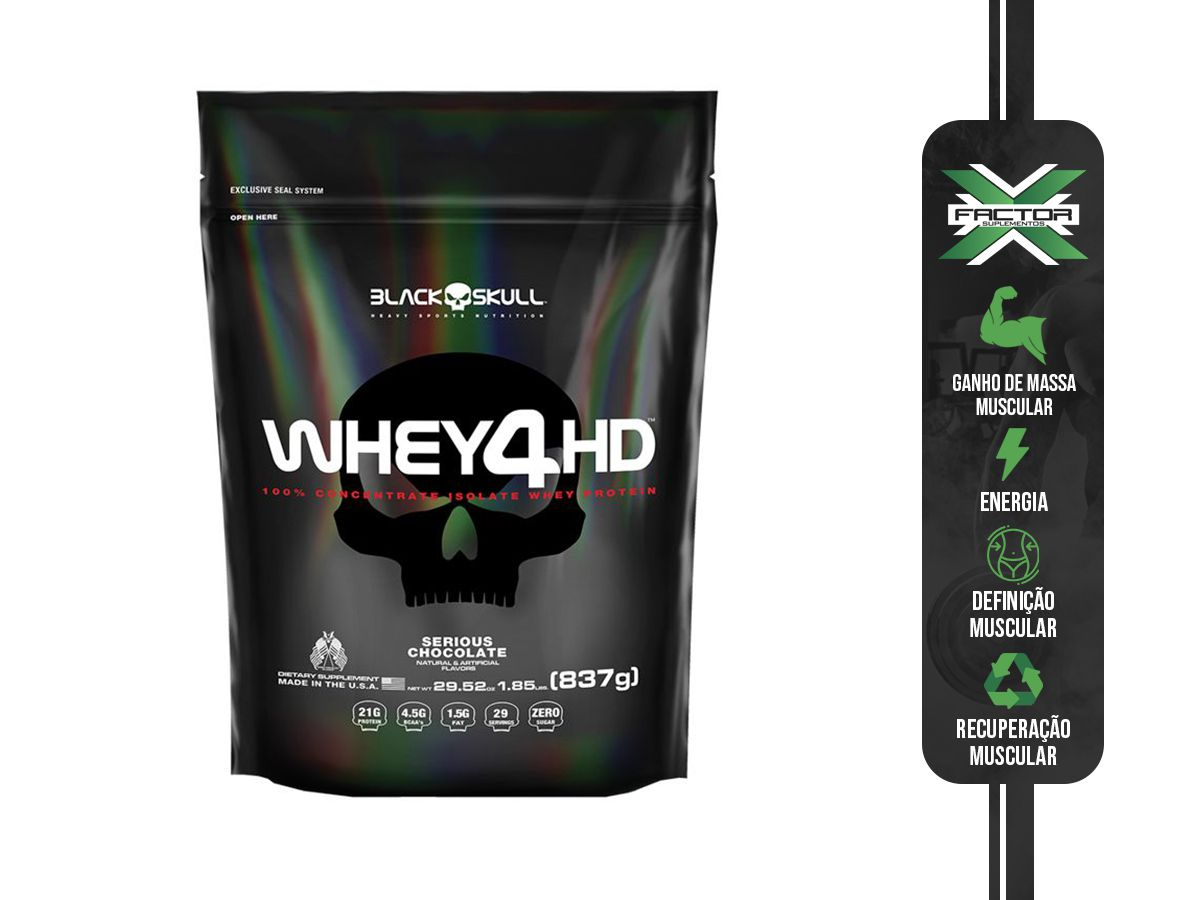 WHEY 4HD REFIL (837G) - BLACK SKULL