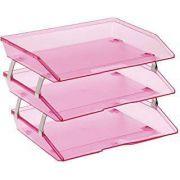 Caixa para correspondencia Acrimet 255 8 tripla faciliti lateral rose clear