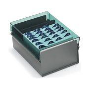Fichario Acrimet 921 5 de mesa para ficha 3x5 com indice cor verde clear