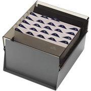 Fichario Acrimet 923 1 de mesa para ficha 5x8 com indice cor fume