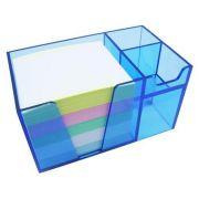 Organizador de mesa azul clear c/papel color 956 2   Acrimet