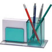 Porta lapis/lembrete verde clear 938 5  Acrimet