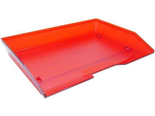 Caixa para correspondencia Acrimet 251 7  simples facility lateral vermelho clear