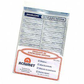 Envelope Acrimet 772 0 vai e vem plastico de circulação interna pacote com 12 unidades