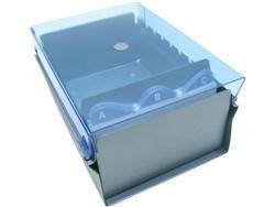 Fichario Acrimet 921 2 de mesa para ficha 3x5 com indice cor azul clear