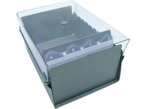 Fichario Acrimet 922 3 de mesa para ficha 4x6 com indice cor cristal