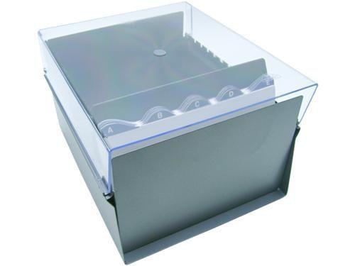 Fichario Acrimet 924 3 de mesa para ficha 6x9 com indice cor cristal