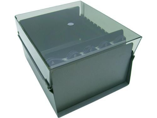 Fichario Acrimet 924 1 de mesa para ficha 6x9 com indice cor fume