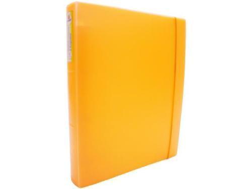 Fichario Acrimet 804 8 universitario oficio 4 argolas cor cenoura neon