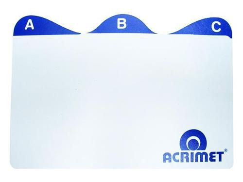 Indice Acrimet 631 0 de az para fichario de mesa 3x5