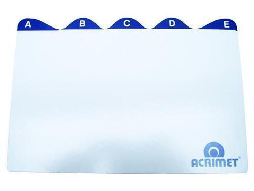 Indice Acrimet 633 0 de az para fichario de mesa 5x8