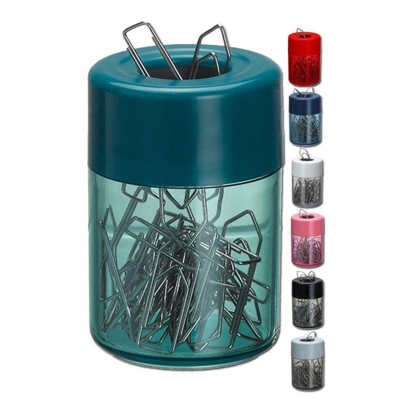 Porta clips magnetico Acrimet 936 3 com corpo cristal e tampa branca