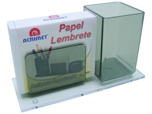 Porta Lapis e Lembrete c/papel bco cor fume 948 1