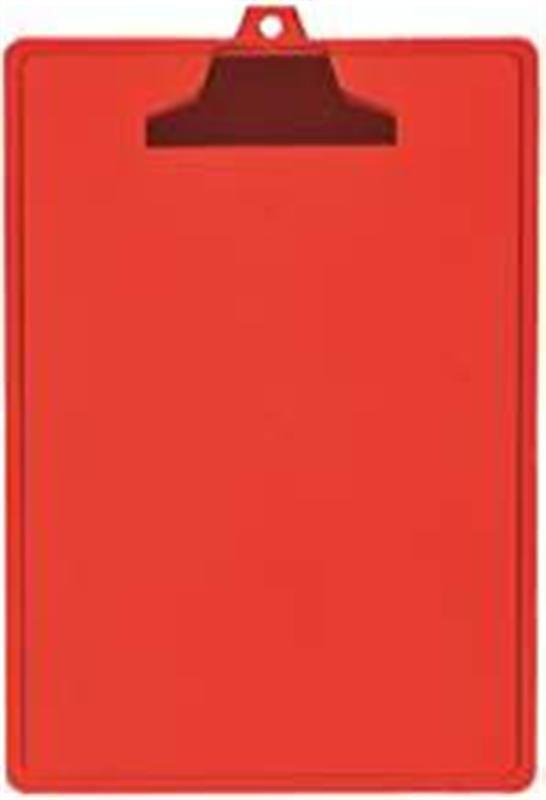 Prancheta Acrimet 131 7 com prendedor plastico  A4 cor vermelha