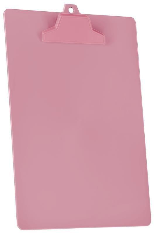 Prancheta Acrimet pop 129 7  pp com prendedor plastico A4 caixa com 12 unidades cor rosa