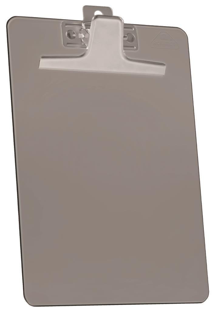 Prancheta Acrimet 930 1  premium prendedor metalico oficio na cor fume caixa com 12 unidades