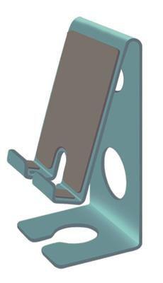 Suporte Acrimet para celular Smartphone Fixação Parede ou Mesa Verde 313 5