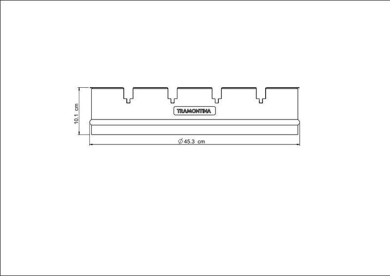 Anel para Espetos TCP-450 e TCP-450L Tramontina em Aço Inox 65 cm