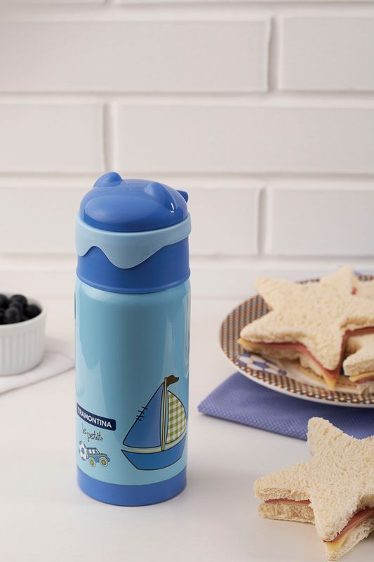 Garrafa Térmica Tramontina Infantil Azul 350 ml