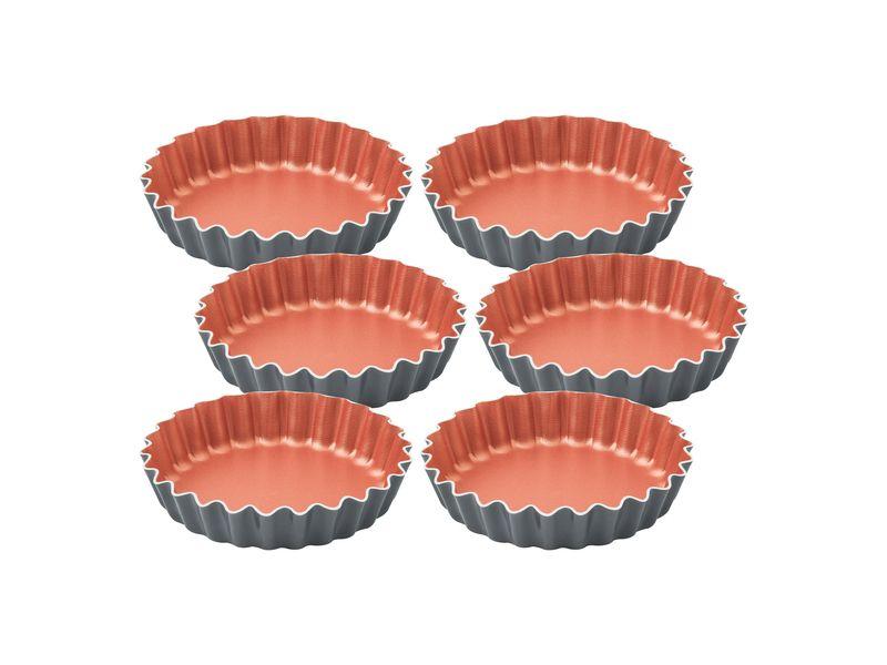 Jogo Mini Forma Alumínio 6 Peças Bakery Cinza Tramontina