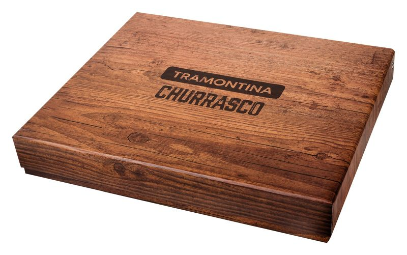 Kit Churrasco Inox 15 Peças Polywood Vermelho Tramontina