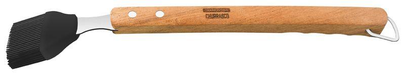 Pincel Tramontina Churrasco com Lâmina em Aço Inox e Cabo de Madeira 41,8 cm Tramontina