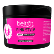 Gel Hard Para Unhas Pink Style Beltrat 30g LED/UV Autonivelante