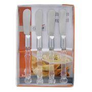 Conjunto de Espátulas p/ Manteiga/Patê Casita CA08047 - 4 Peças