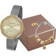 Relógio Feminino Mondaine Kit c/ Pulseira 53668LPMVBE3K1